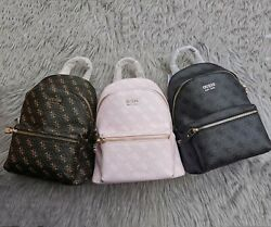 New Guess Printed Backpack European And American Style Retro Zipper Womenand039s Bag