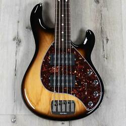 Ernie Ball Music Man Stingray 5 Special Hh 5-string Bass, Rosewood, Burnt Ends