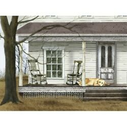 New Billy Jacobs The Long Wait Dog Porch Farmhouse Wall Hanging Picture