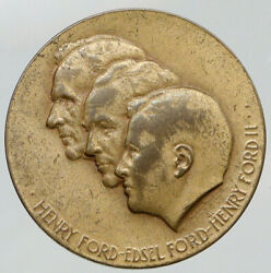 1953 United States Henry Ford Motor Co And Edsel 50 Year Vintage Medal Coin I91869