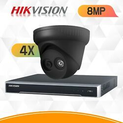 Hikvision 8mp Ip Cctv System 4k Security Kit Nvr 4ch 8ch 16ch Ip67 Viper Pro Cam