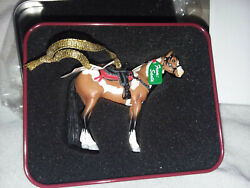 Trail Of Painted Ponies Santaand039s Surprise Ornament And Tin2.5tall20114022243