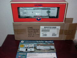 Lionel 6-52351 Bnsf Icicle Refrigerator Car With Etd Mint