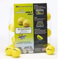Almost Golf 24 Pack Limited Flight Practice Golf Balls - Yellow