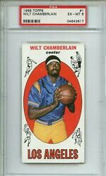Topps Rookie 1 Wilt Chamberlain 1st Topps Card Psa 6 Los Angeles Lakers Rare