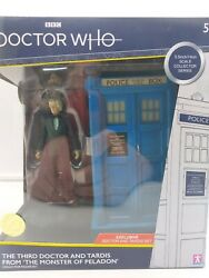 Dr Who 3rd Third Doctor Figure And Tardis Set Monster Of Peladon Collector Set