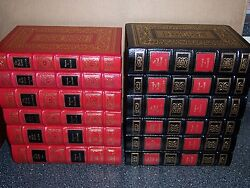 Easton Press Library Of Winston Churchill Wwi Wwii English-speaking 28 Vols