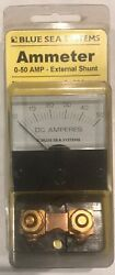 Blue Sea Systems Ammeter 0-50 Amp External Shunt P/n 8041 New In Box