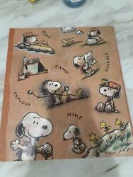 Hallmark Peanuts SNOOPY SCOUT CAMP HIKE Scrapbook Photo Album NEW Other