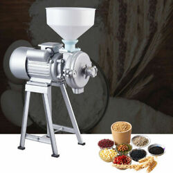 Cast Iron Mill Wet Dry Cereals Grinder 110v 2200w Rice Corn Grain Coffee+funnel