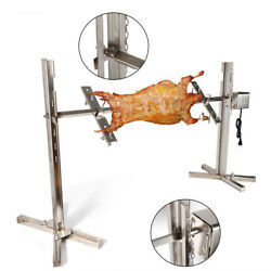 Outdoor Electric Bbq Roaster Spit Pig Chicken Grill Motor Stainless Steel 30kg
