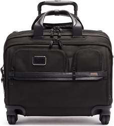Tumi - Alpha 3 Deluxe 4 Wheeled Laptop Case Briefcase - 17 Inch Computer Bag For