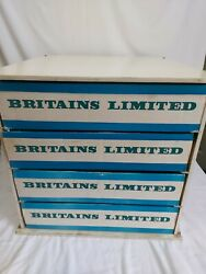 Britains Toys Soldier Farm Or Zoo Shop Counter Display Dealer Trays Rare