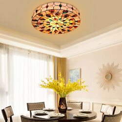 Style Stained Glass Ceiling Lamp Indoor Lighting Fits Dining Room New