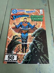 Dc Comics Present - Superman And Swamp Thing - 1985 Alan Moore 50th Anniversary