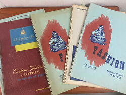 Lot Of 5 X Jl Taylor 1940/50s Advertising Clothes Mens Womans Fashion Catalogues