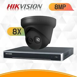 Hikvision 4k Ip Cctv System 8mp 4ch 8ch 16ch Security Kit Nvr Ip67 Viper Pro Cam