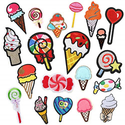 Choco Mocha 20pcs Ice Cream Iron On Patch For Clothing Small Iron On Patches For