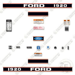 Ford 1920 Decal Kit Tractor - 7 Year 3m Vinyl Decal W/ Warning And Safety Stickers