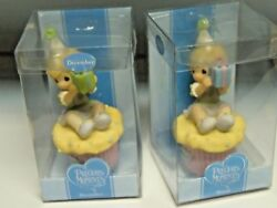 Precious Moments December And March Birthday Wishes Figurines Niob