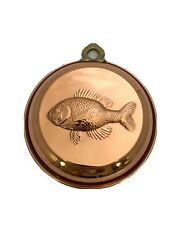 Copper Fish Mold Wall Decor 7.5 Kitchen French Country Farmhouse Cottage Beach