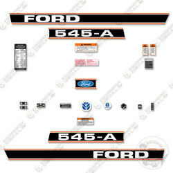 Ford 545-a Decal Kit Tractor - 7 Year 3m Vinyl W/ Warning And Safety Modern Style
