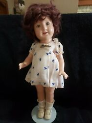 1930's Madame Alexander 17 Jane Withers Doll All Original With Pin