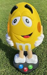 Yellow Peanut Mandm Candy Character Store Display On Wheels 41 Tall 19 Wide Read