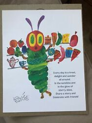 """Eric Carle Signed 2014 """"the Very Hungry Caterpillar"""" 45th Anniversary poster"""