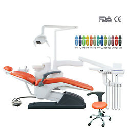 Dental Unit Chair Computer Controlled B2 Hard Leather With Doctor Stool Fda Ce