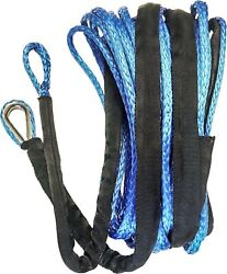 Open Trail Blue 1/4 Diameter X 50 Ft. Synthetic Winch Rope 700-1150