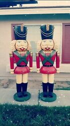 Set Of 2 6ft Nutcracker Christmas Holiday Display Prop Statue