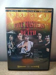 Five Masters Of Death Dvd Kung Fu Martial Arts