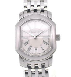 Tiffanyandco. Mark Coupe Sm Date Stainless Steel Quartz Ladies Watch O104007