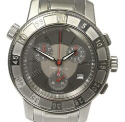 And Co. Mark Date Chronograph T-57 Quartz Ss Gray Dial Men's Watch [u0528]