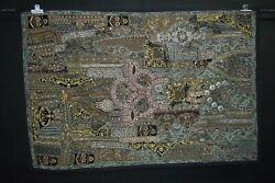 Vintage Tapestry IndianRecycle Sari Patchwork Wall Hanging