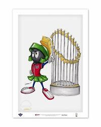 Marvin The Martian World Series 2019 Sketch Art Print By S. Preston - Nationals