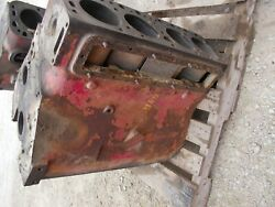 Farmall 450 Tractor Engine Motor C281 Good Block W/ Sleeves That Need Replaced