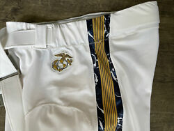 Authentic Game Worn 2020 Usna Navy Midshipmen Navy/army Football Pants 38 Jersey