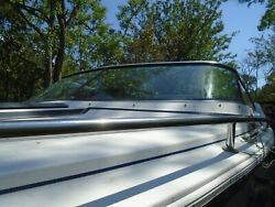Formula F-223 Boat Complete Windshield Front, Port And Starboard Side. W/ Braces