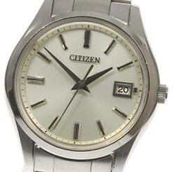 The Citizen Eco-drive Aq4000-51a Solar Stainless Silver Dial Menand039s Watch [u0528]
