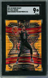 2019-20 Select Paul George Neon Orange Pulsar Prizm And039d 2/13 Sgc 9 Clippers Ie