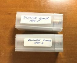 1999 Delaware Pandd State Quarter Uncirculated Rolls In Plastic Tube