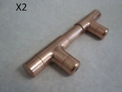2 Pcs Custom Copper Pipe Cabinet Pulls Drawer Handles Nibco Plumbing Pipping