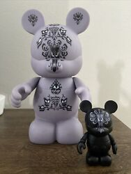 """Disney Vinylmation Haunted Mansion Wallpaper 9"""" And 3"""" Figures"""