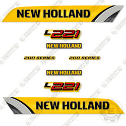 New Holland L221 Decal Kit Skid Steer Reproduction Equipment Decals - 3m Vinyl