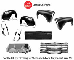 1950 Chevy Truck Front Fenders Back Fenders Chrome Grille Blank Tailgate +
