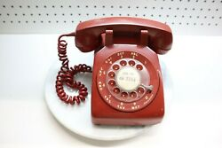 Nice Bell Systems Western Electric Red Rotary Dial Desk Phone 500 C/d Batman 71