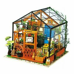 Diy Dollhouse Wooden Miniature Furniture Kit Mini Green House With Led Best
