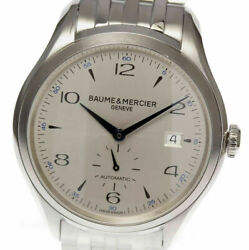 Baume And Mercier Clifton M0a10052 Stainless Silver Dial Menand039s Watch [u0529]